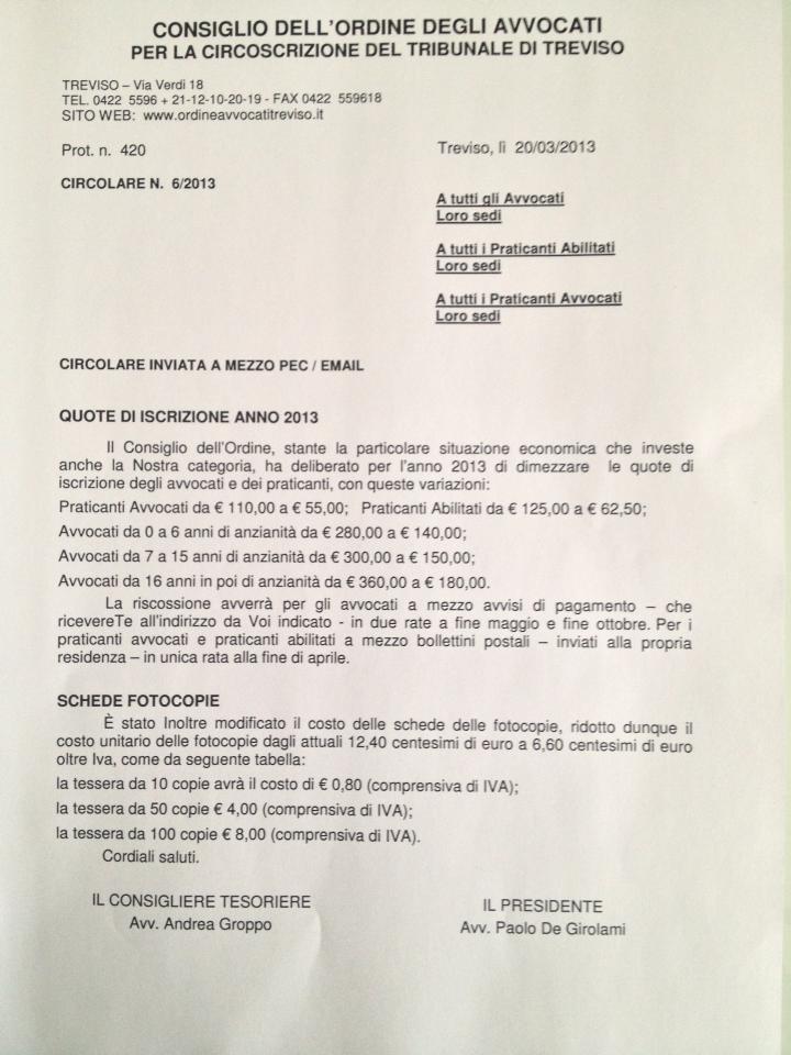 Ordine Avvocati Treviso