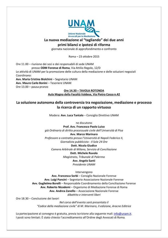 Convegno UNAM 23 ottobre 2015